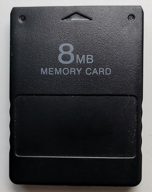 Generic 8MB Memory Card (Black) for Sony PlayStation 2 PS2