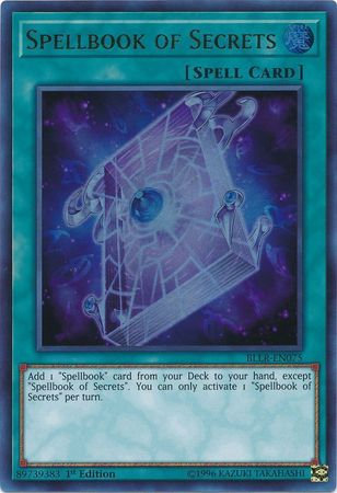 Yu-Gi-Oh! Card BLLR-EN075 Spellbook of Secrets 1st Edition