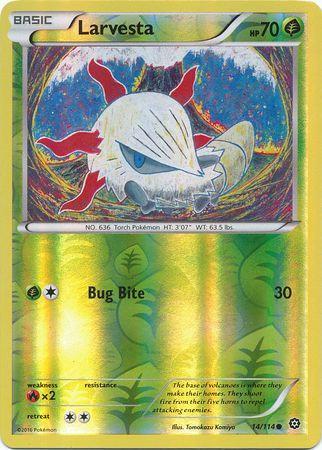 POKEMON Single Card XY - STEAM SIEGE (Reverse Holo) - 014/114 : Larvesta