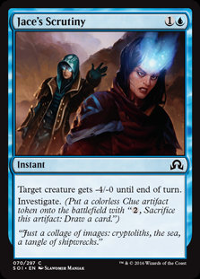 MAGIC THE GATHERING SHADOWS OVER INNISTRAD Card - 070/297 : Jace's Scrutiny