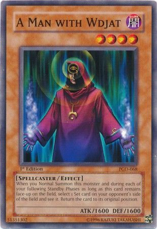 Yu-Gi-Oh! Card PGD-068 A Man with Wdjat 1st Edition