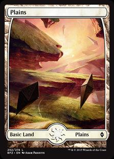 MAGIC THE GATHERING BATTLE FOR ZENDIKAR Card - 252/274 : Plains (Full Art)