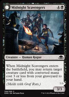MAGIC THE GATHERING ELDRITCH MOON Single Card - 096/205 : Midnight Scavengers