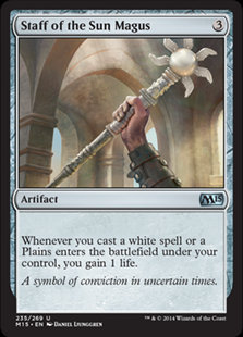 MAGIC THE GATHERING MAGIC 2015 Card - 235/269 : Staff of the Sun Magus