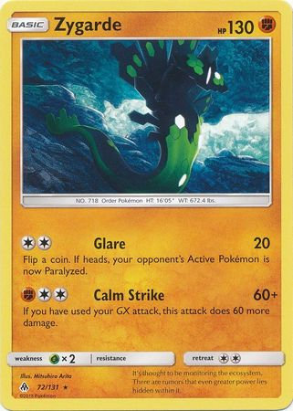 POKEMON Single Card SM - FORBIDDEN LIGHT - 072/131 : Zygarde