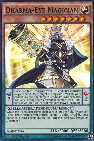 Yu-Gi-Oh! Card BOSH-EN096 Dharma-Eye Magician 1st Ed.