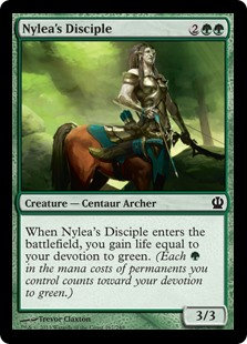 MAGIC THE GATHERING THEROS Card - 167/249 : Nylea's Disciple