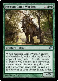 MAGIC THE GATHERING JOURNEY INTO NYX Card - 132/165 : Nessian Game Warden