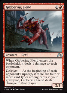 MAGIC THE GATHERING SHADOWS OVER INNISTRAD Card - 161/297 : Gibbering Fiend