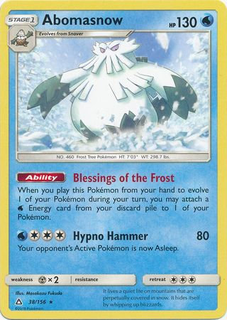 POKEMON Single Card SM - ULTRA PRISM - 038/156 : Abomasnow