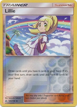 POKEMON Card SM - ULTRA PRISM - 125/156 : Lillie (Reverse Holo)