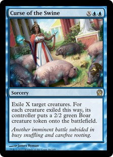 MAGIC THE GATHERING THEROS Card - 046/249 : Curse of the Swine