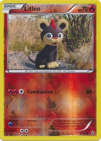 POKEMON Single Card XY - FLASHFIRE (Reverse Holo) - 018/106 : Litleo