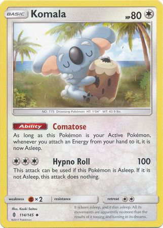 Pokemon Single Card SM - SUN & MOON : GUARDIANS RISING - 114/145 : Komala