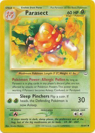 POKEMON Single Card NEO REVELATION - 35/64 : Parasect