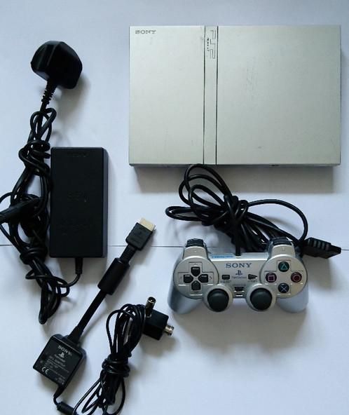 Sony Playstation PS2 Slimline (Satin Silver) Console | Super Retro ...
