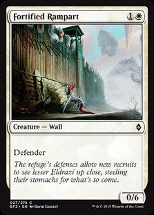MAGIC THE GATHERING BATTLE FOR ZENDIKAR Card - 027/274 : Fortified Rampart