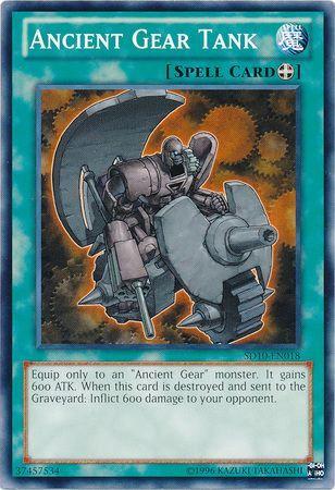 Yu-Gi-Oh! Card SD10-EN018 Ancient Gear Tank 1st Edition