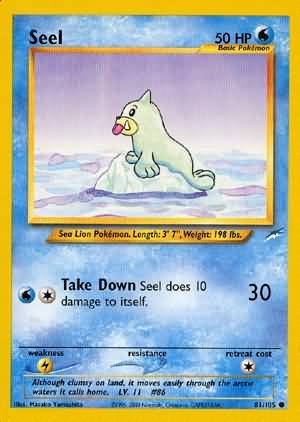 POKEMON Single Card NEO DESTINY - Single Card - 081/105 : Seel