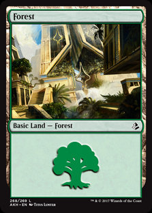MAGIC THE GATHERING AMONKHET Card - 268/269 : Forest