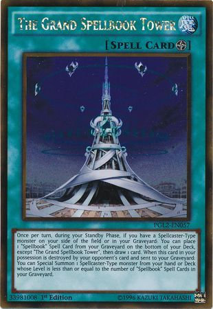 Yu-Gi-Oh! Card PGL2-EN057 The Grand Spellbook Tower 1st Edition