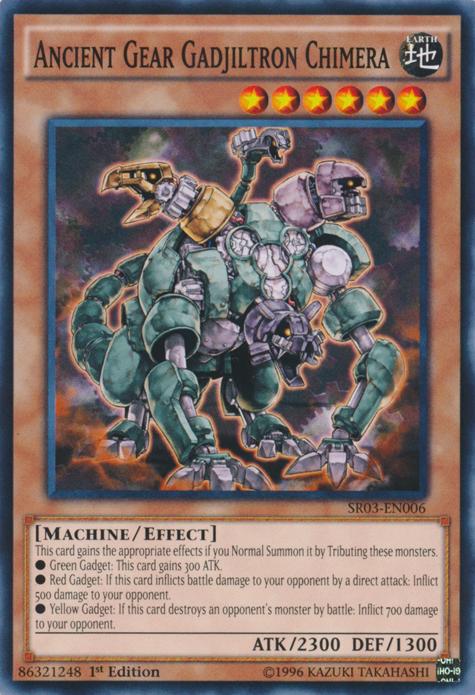 Yu-Gi-Oh! Card SD10-EN002 Ancient Gear Gadjiltron Chimera 1st Edition