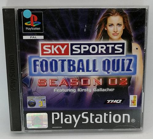 Sky Sports Football Quiz Season 02 for Sony PlayStation PS1
