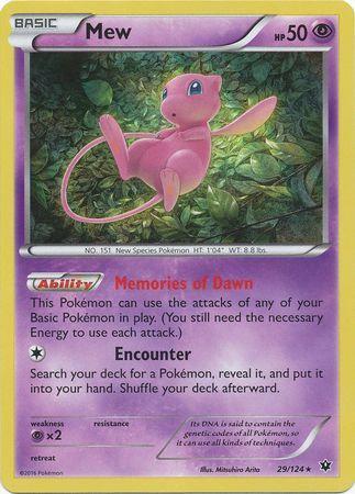 Pokemon Single Card XY - FATES COLLIDE - 029/124 : Mew