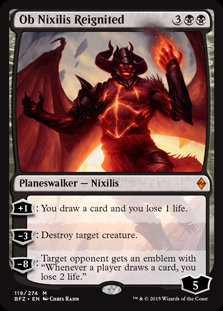 MAGIC THE GATHERING BATTLE FOR ZENDIKAR Card - 119/274 : Ob Nixilis Reignited
