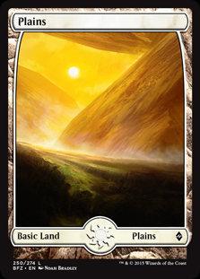 MAGIC THE GATHERING BATTLE FOR ZENDIKAR Card - 250/274 : Plains (Full Art)
