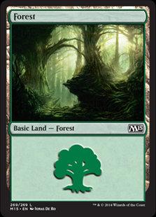 MAGIC THE GATHERING MAGIC 2015 Single Card - 269/269 : Forest