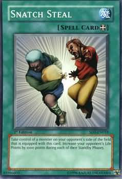 Yu-Gi-Oh! Card SD5-EN019 Snatch Steal 1st Edition
