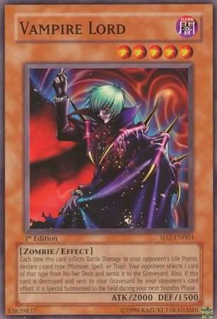 Yu-Gi-Oh! Card SD2-EN003 Vampire Lord 1st Edition