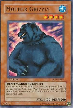 Yu-Gi-Oh! Card SD4-EN005 Mother Grizzly 1st Edition