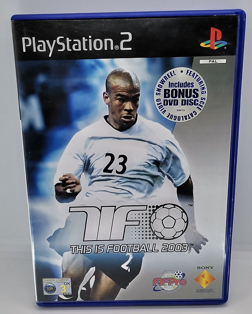 This is Football 2003 for Sony PlayStation 2 PS2