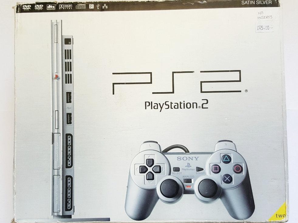 Sony PlayStation 2 PS2 Slimline Satin Silver Console