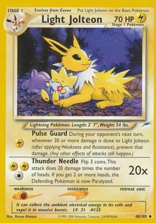 POKEMON Single Card NEO DESTINY - Single Card - 048/105 : Light Jolt