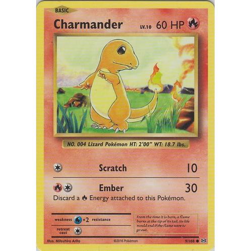 Pokemon Single Card XY - EVOLUTIONS - 009/108 : Charmander