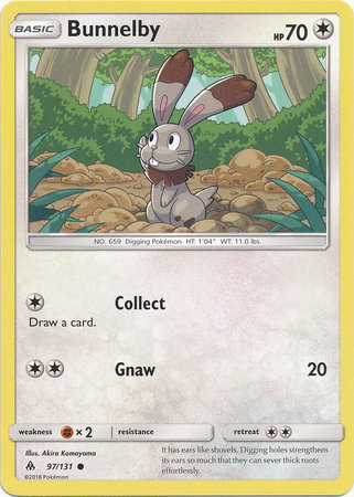 POKEMON Single Card SM - FORBIDDEN LIGHT - 097/131 : Bunnelby