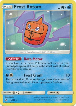 POKEMON Single Card SM - ULTRA PRISM - 041/156 : Frost Rotom