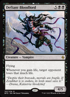 MAGIC THE GATHERING BATTLE FOR ZENDIKAR Card - 107/274 : Defiant Bloodlord