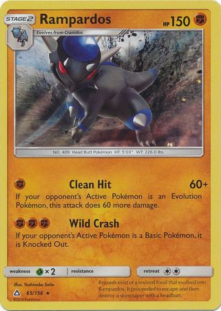 POKEMON Single Card SM - ULTRA PRISM - 065/156 : Rampardos