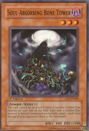 Yu-Gi-Oh! Card SD2-EN009 Soul-Absorbing Bone Tower 1st Edition