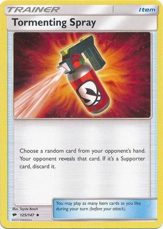POKEMON Single Card SUN AND MOON - BURNING SHADOWS - 125/147 : Tormenting Spray