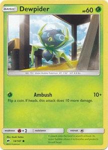 POKEMON Single Card SUN AND MOON - BURNING SHADOWS - 014/147 : Dewpider