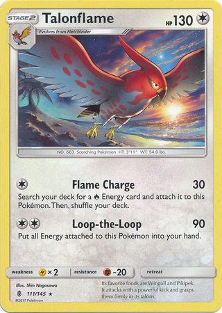 Pokemon Single Card SM - SUN & MOON : GUARDIANS RISING - 111/145 : Talonflame