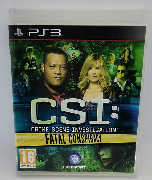 CSI: Crime Scene Investigation - Fatal Conspiracy for Sony PlayStation 3 PS3