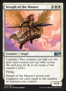 MAGIC THE GATHERING MAGIC 2015 Card - 032/269 : Seraph of the Masses