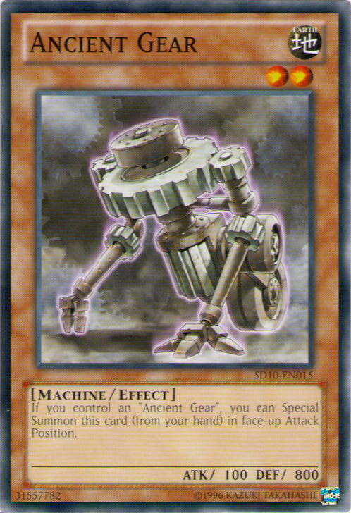 Yu-Gi-Oh! Card SD10-EN015 Ancient Gear 1st Edition