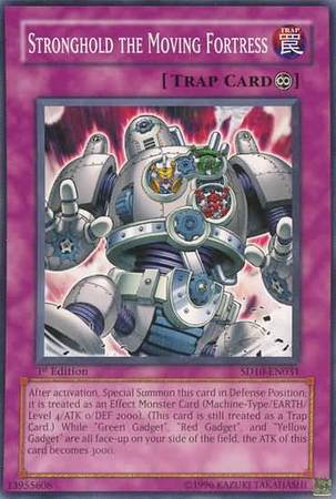 Yu-Gi-Oh! Card SD10-EN031 Stronghold the Moving Fortress 1st Edition